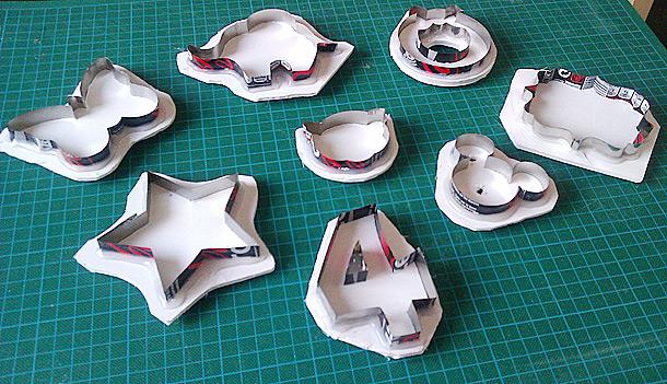 cortadores caseros hechos con latas de aluminio