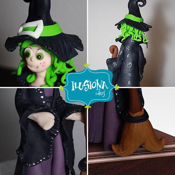 Detalles de la bruja modelada