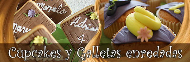 Cupcakes y galletas de Rapunzel (Enredados - Tangled)